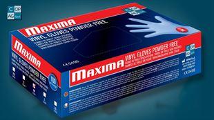 Immagine per la categoria Guanti in vinile elasticizzato Maxima (senza polvere) DM e DPI AQL 1,5